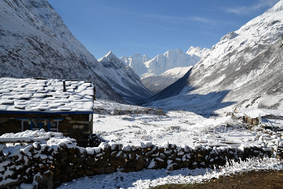 Nepal's icy landscape
